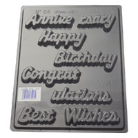 Home Style Chocolates Script Greetings Chocolate Mould