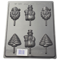 Home Style Chocolates Christmas On Sticks Chocolate Mould