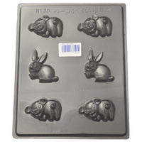 Home Style Chocolates Pigs & Rabbits Chocolate Mould