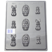 Home Style Chocolates Rabbits Small Chocolate Mould