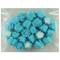BLUE ROSES 10MM PACK OF 24
