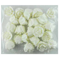 WHITE ROSES 15MM PACK OF 24