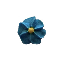 Icing Blue Drop Flowers 18mm - 50 Pack