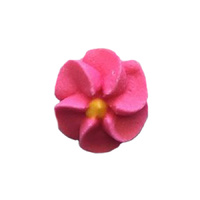 ICING HOT PINK DROP FLOWERS 18MM PACK OF 50