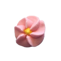 Icing Pink Drop Flowers 18mm - 50 Pack