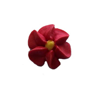 Icing Red Drop Flowers 18mm - 50 Pack