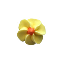 Icing Yellow Drop Flowers 18mm - 50 Pack