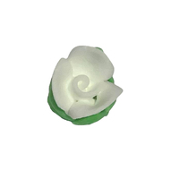 WHITE ROSE BUDS 15MM PACK OF 15