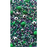 Monster Mash Green-Purple-White Sprinkles 10grams