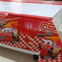Cars Plastic Table Cloth