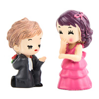 Boy And Girl Proposal Figurine Topper