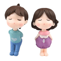 Boy And Girl Kissing Figurine Topper