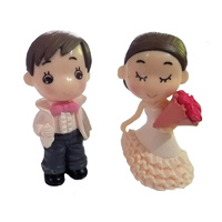 Boy And Girl  Figurine Topper