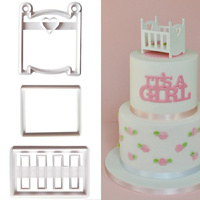 Crib / Cot Fondant Cutter Set