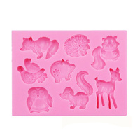 Forest Animals Silicone Mould