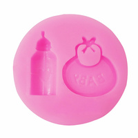 Baby Bottle and Bib Silicone Fondant Mould