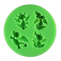 Dragon Silicone Mould 8cm