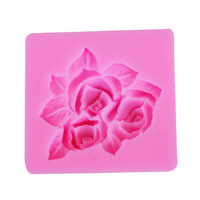 Rose With Leaves Silicone Fondant Mould