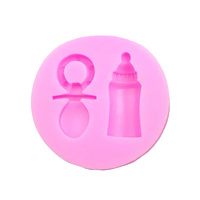 Baby Bottle and Pacifier Silicone Fondant Mould