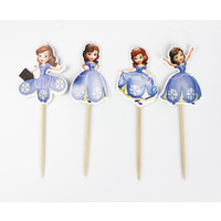 Princess Sofia Cupcake Picks 24 Pieces