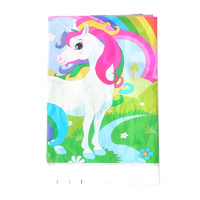 Unicorn Plastic Table Cloth