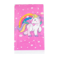 Pink Unicorn Plastic Table Cloth