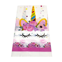 Unicorn Face Plastic Table Cloth