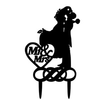 Acrylic Mr & Mrs Cake Topper 13cm Black