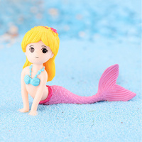 Mermaid Pink Tail Toy Decoration 4.5cm