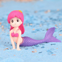 Mermaid Purple Tail Toy Decoration 4.5cm