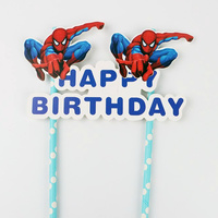 Spiderman Cake Flag Topper
