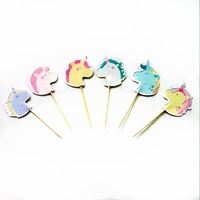 Unicorn Head Cupcake Picks 24pcs