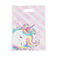 Pink Strip Unicorn Loot Bags 10pcs