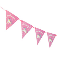 Unicorn Birthday Flag Banner