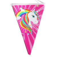 Unicorn Rainbow Birthday Flag Banner