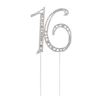 19cm Diamante Cake topper 16th