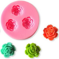 SILICONE ROSES MOULD 4.5CM