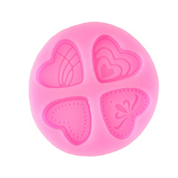4 HEARTS SILICONE MOULD