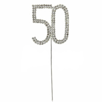 4cm Diamante Cake topper 50th