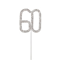 4cm Diamante Cake topper 60th
