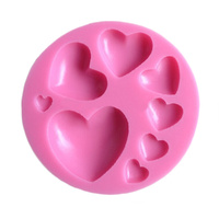 8 Hearts Silicone Mould