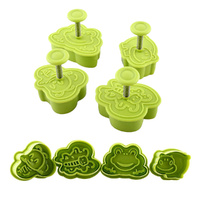 BUGS & ANIMALS PLUNGER CUTTERS 4PC SET