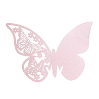 Pink Butterfly Wine Glass Name Card Pack Of 10