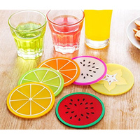 FRUIT SILICONE DRINK COASTERS SET OF 6