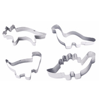 4PC DINOSAUR COOKIE CUTTER SET
