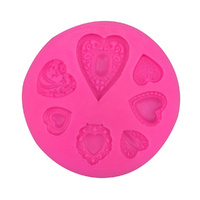 FANCY HEARTS SILICONE MOULD
