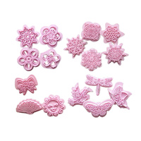 16PC FONDANT CUTTER SET