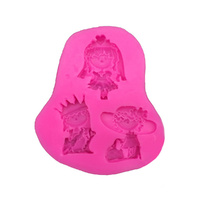 3 PRINCESSES SILICONE MOULD