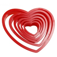 Plastic Heart Cutters - 6pc Set