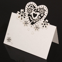 White Heart Name Card Pack Of 10
